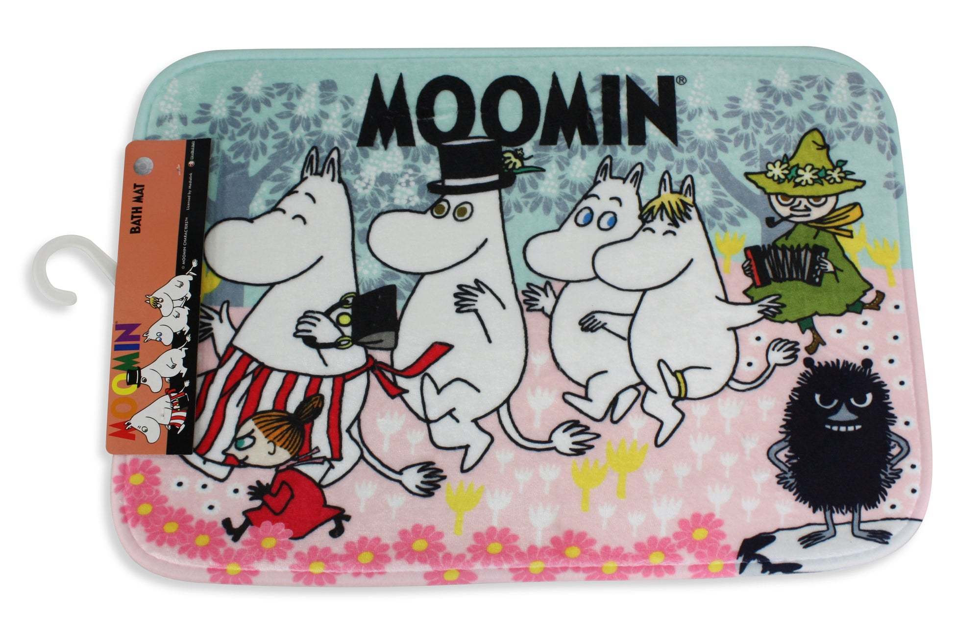 Moomin Bath Mat, Floor Mat 35cm x 50cm: Life in Moomin Valley. - farangshop-co