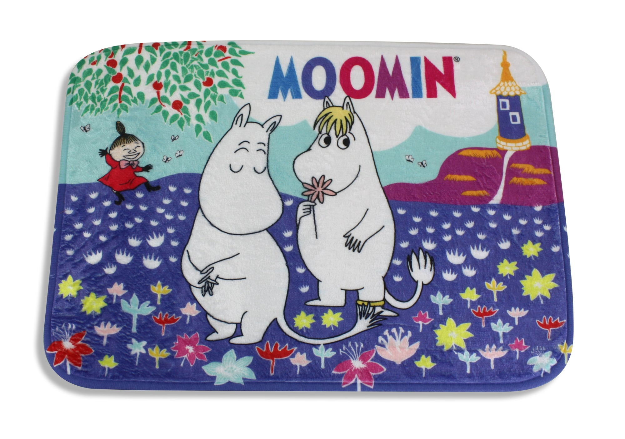 Moomin Bath Mat, Floor Mat 35cm x 50cm: Love is in the air. - farangshop-co