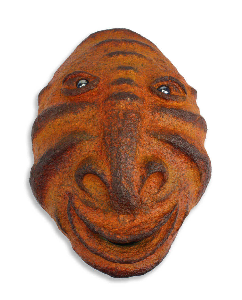 Hand Crafted Papier Mache Wall Mask, BCL01A - farangshop-co