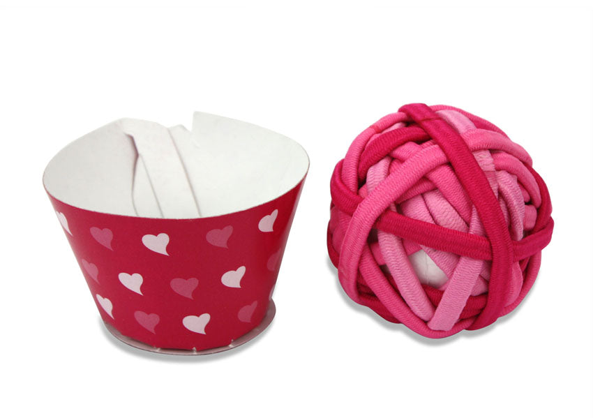 Boxed Cupcake Pack of 20 pieces of children's elasticated hair ties, Pink, by Moshi Moshi - farangshop-co