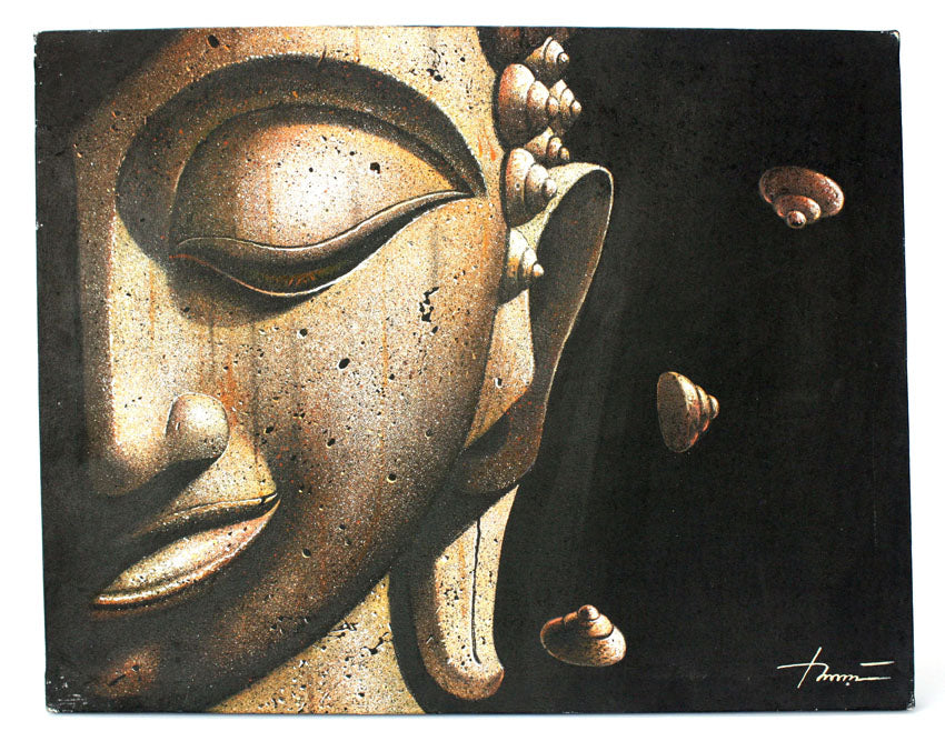 Selection of Original Thai Buddha Paintings on Canvas to choose from, 50cm x 40cm - farangshop-co