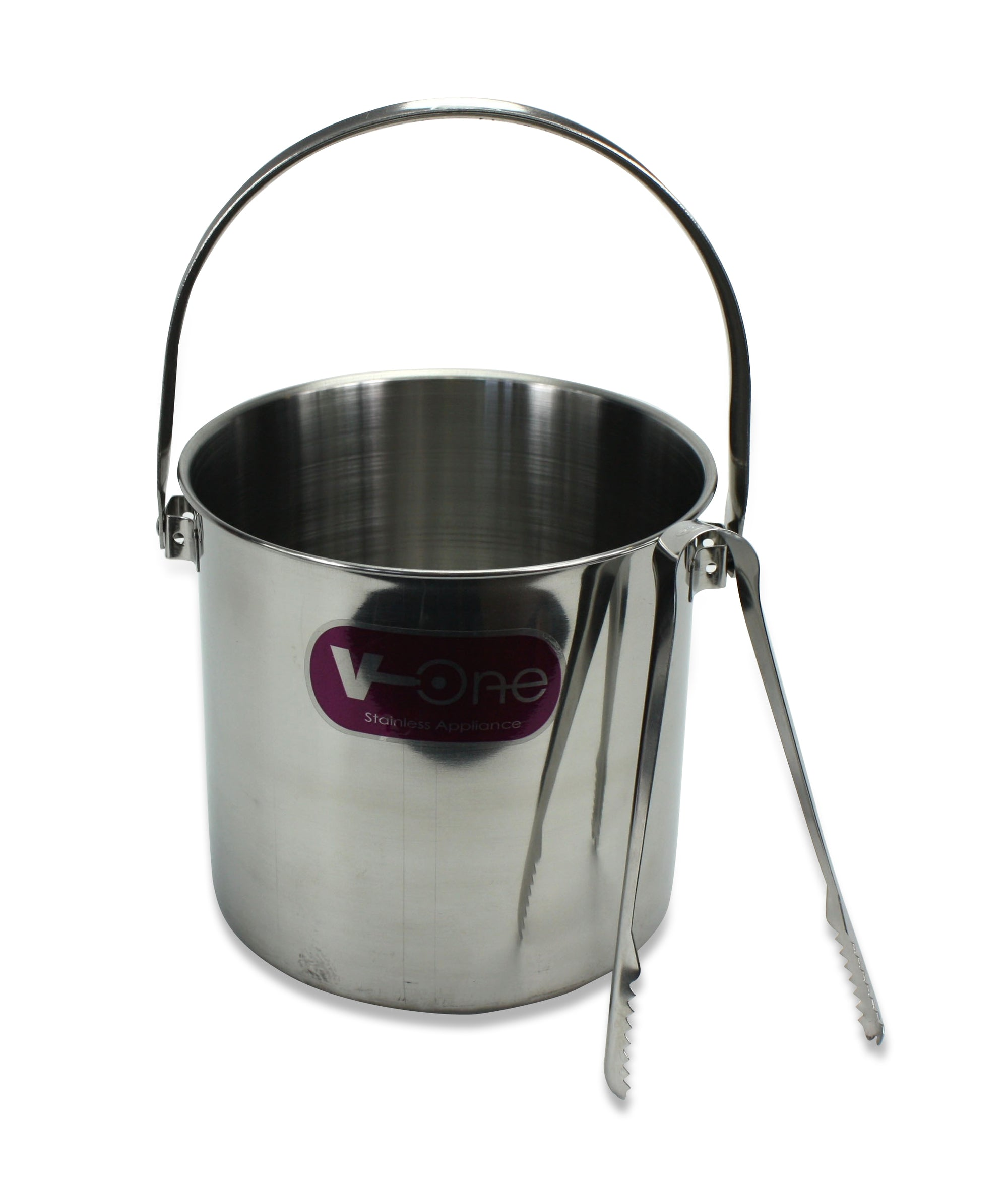 Thai Stainless Steel Ice Bucket and Tongs - farangshop-co