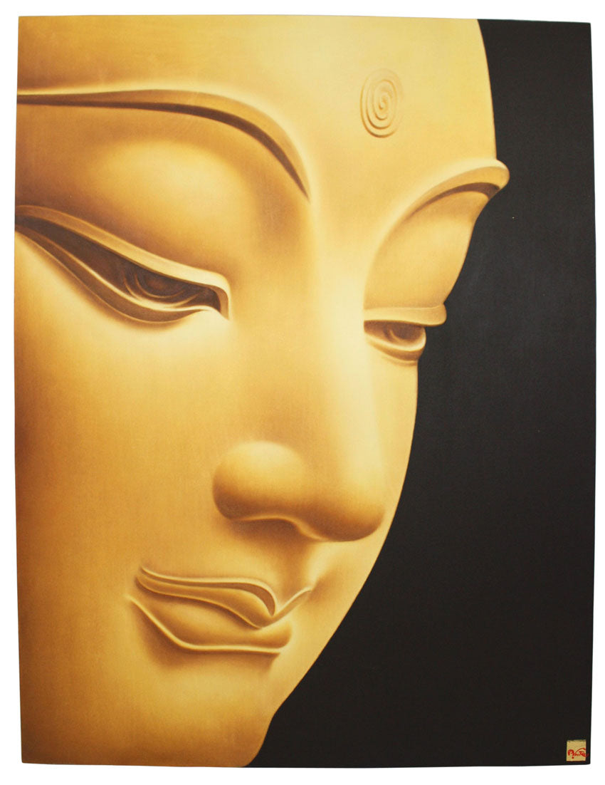 Suppakit Mukta, Buddha painting, 2010, 90cm x 120cm - farangshop-co
