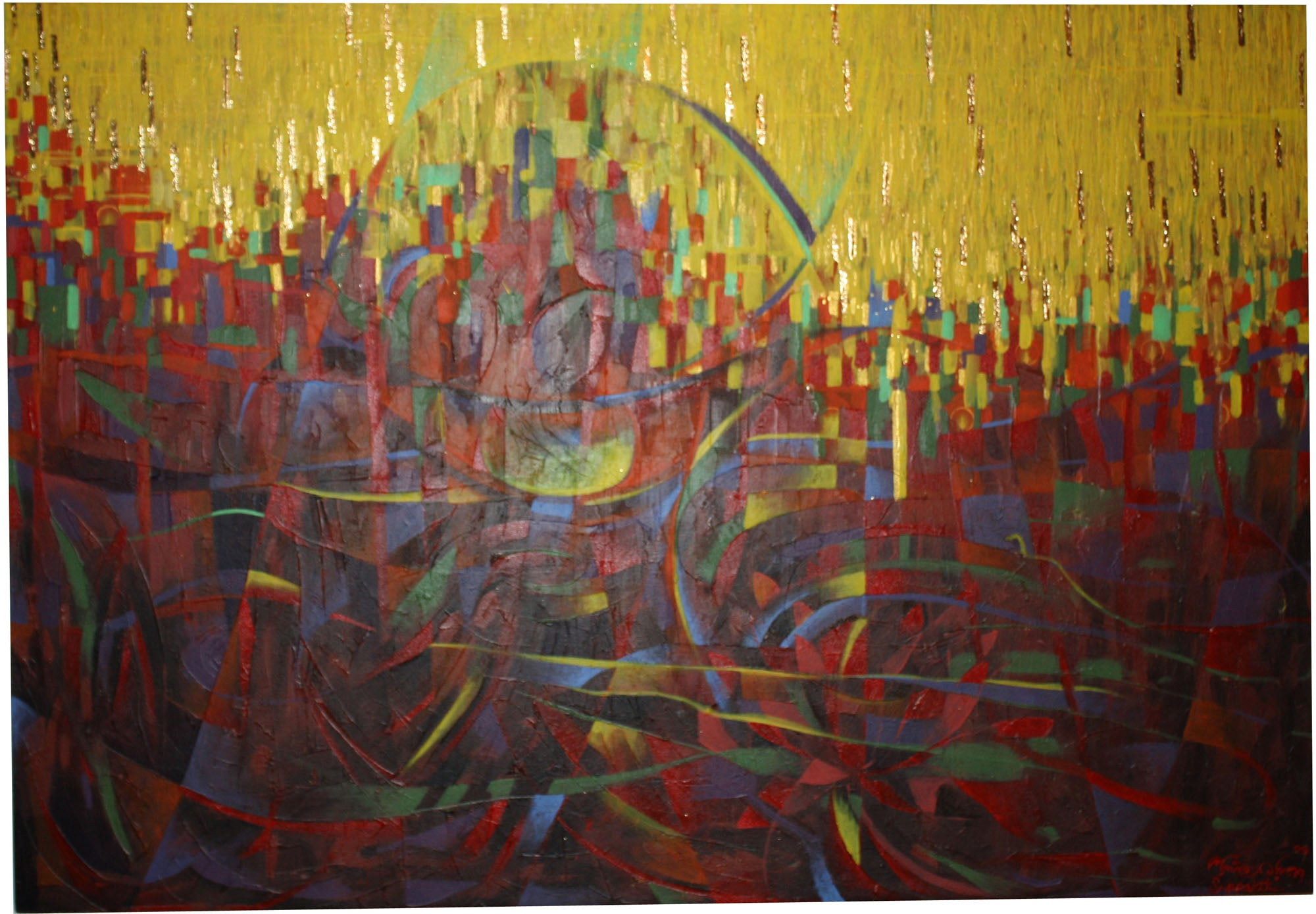 Suppakit Mukta, Abstract, 2009, 120cm x 83cm, Thai artist - farangshop-co