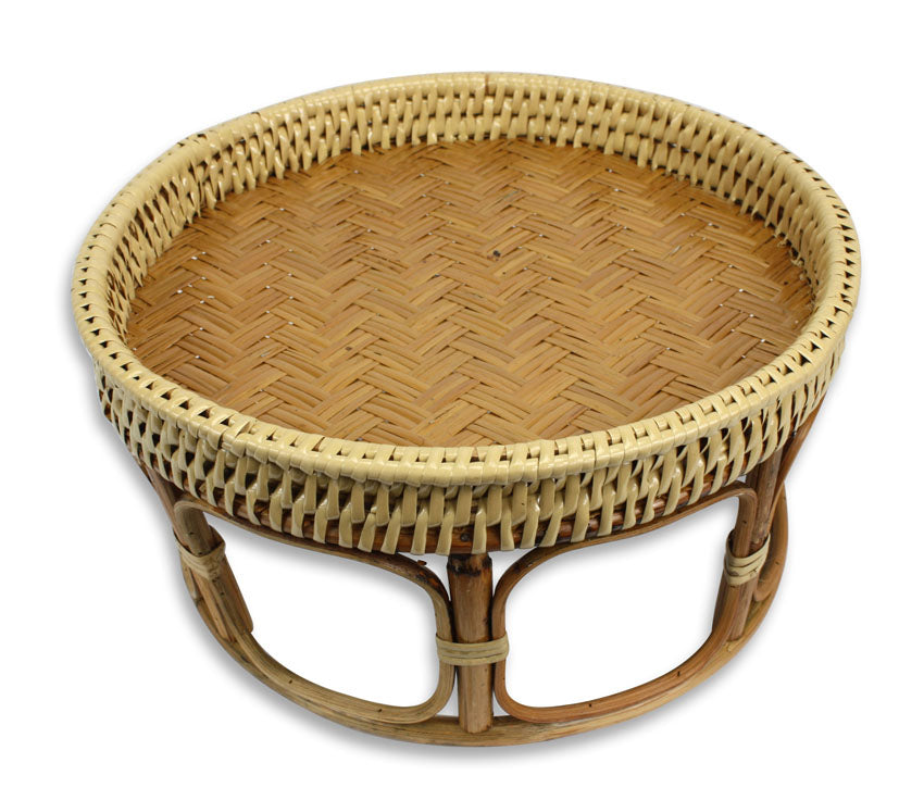 Small and Medium Thai Bamboo Kantok Tables - Lanna Dinner Set - 4 sizes available - farangshop-co