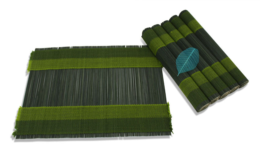 Bamboo Placemat Set of 6 - Choice of colours - farangshop-co
