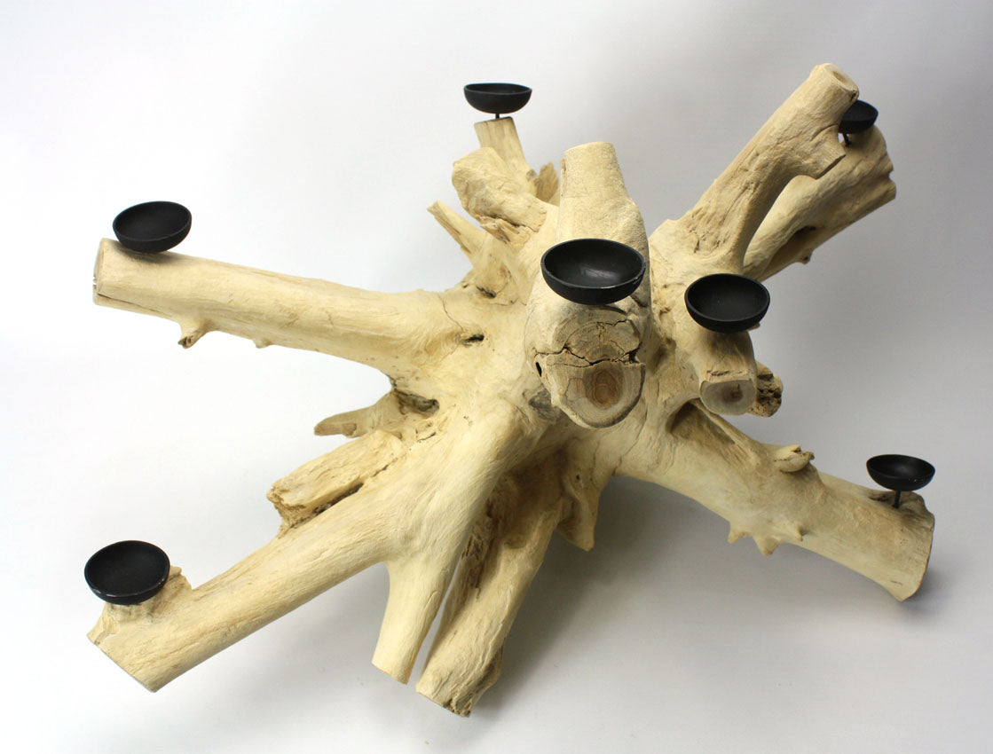 Driftwood root candle holder, Large Approx 40cm high, BT25 - farangshop-co