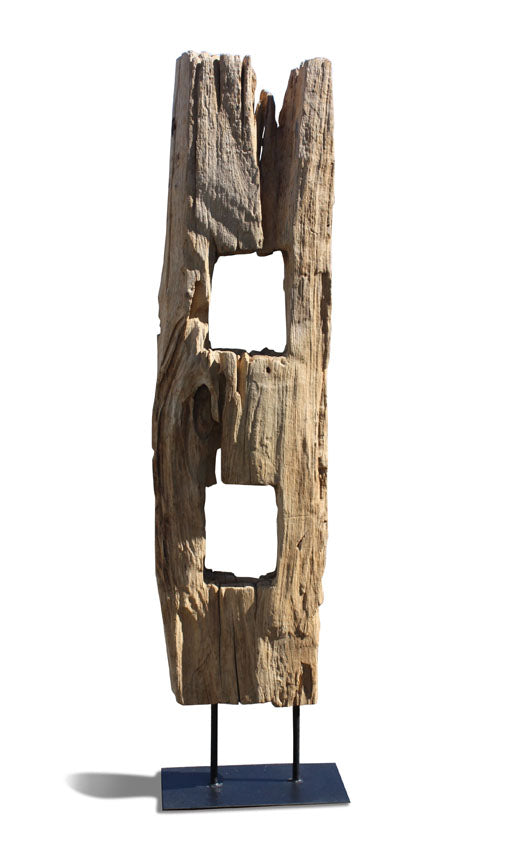 Antique Thai Teakwood Fence Post, Large size, 121cm - farangshop-co