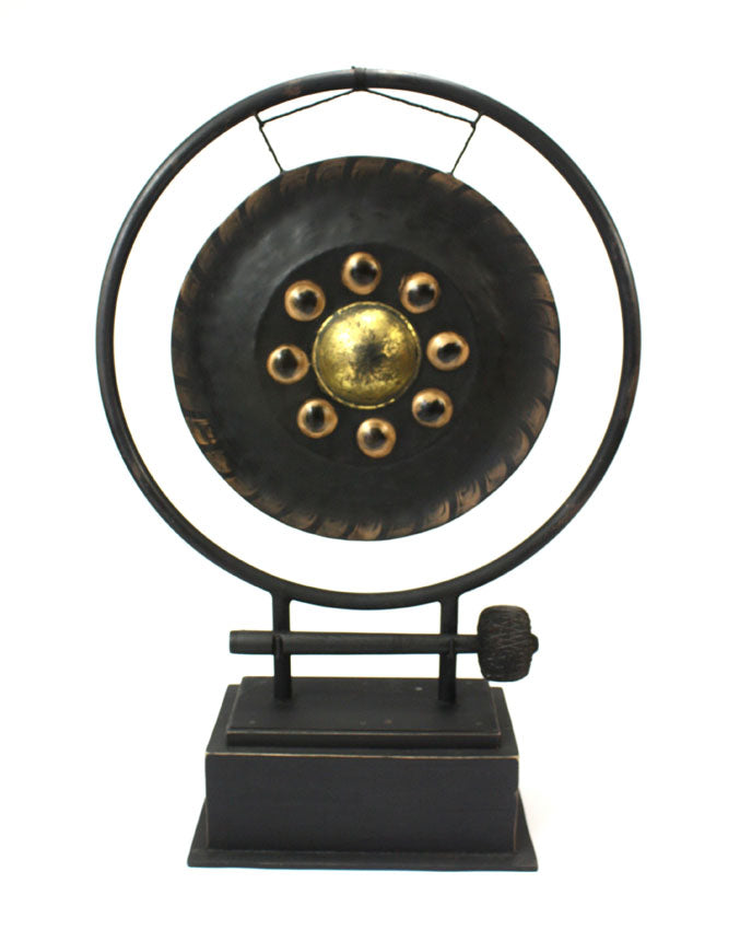 Large Thai Gong on Stand, 103cm high - farangshop-co