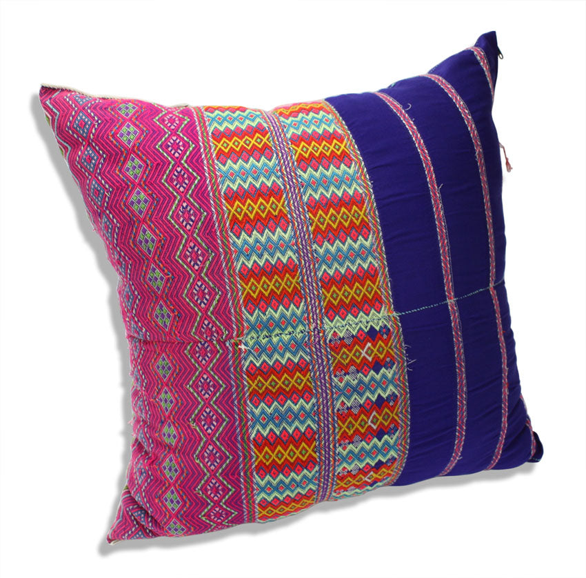 Authentic Karen Hilltribe fabric Cushion, Large 50cm, KC14 - farangshop-co