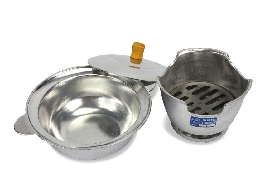 Traditional Thai metal hotpot, 19cm - farangshop-co