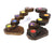 5 Step Teak Candle Holder - farangshop-co
