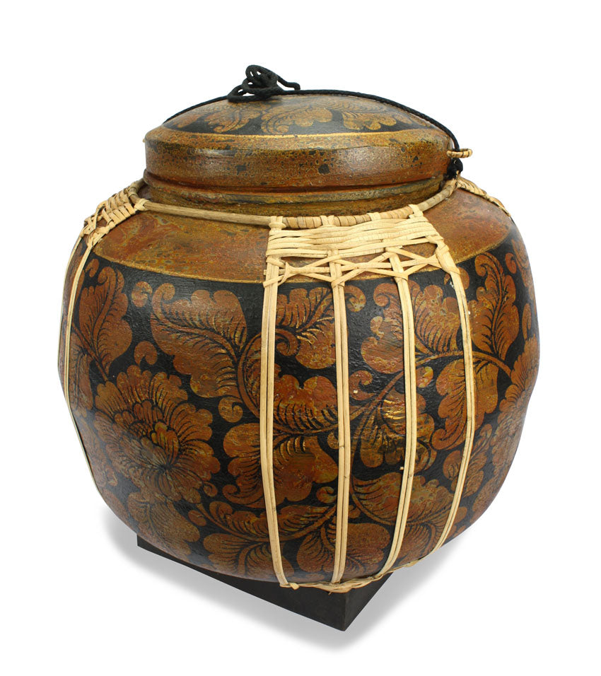 Rice seed box - Very Large Spherical Box, 53cm high, CM1703 - farangshop-co