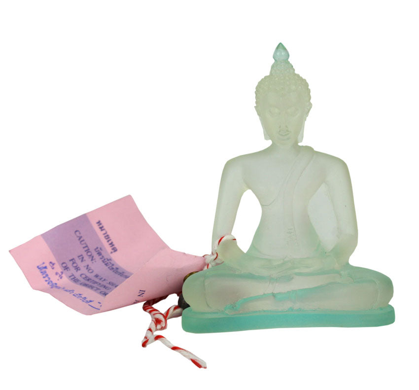 Thai Translucent Resin Buddha, Duotone color - 3 colours available, Small Size 10cm - farangshop-co