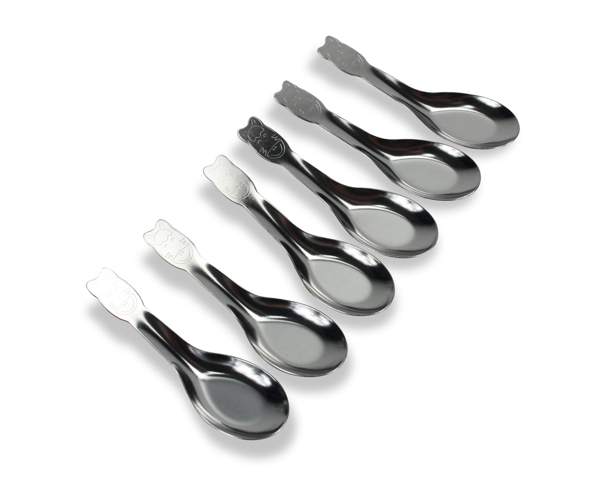 Thai Stainless Steel Spoons for kids, Zebra Brand, Pack of 6 - farangshop-co