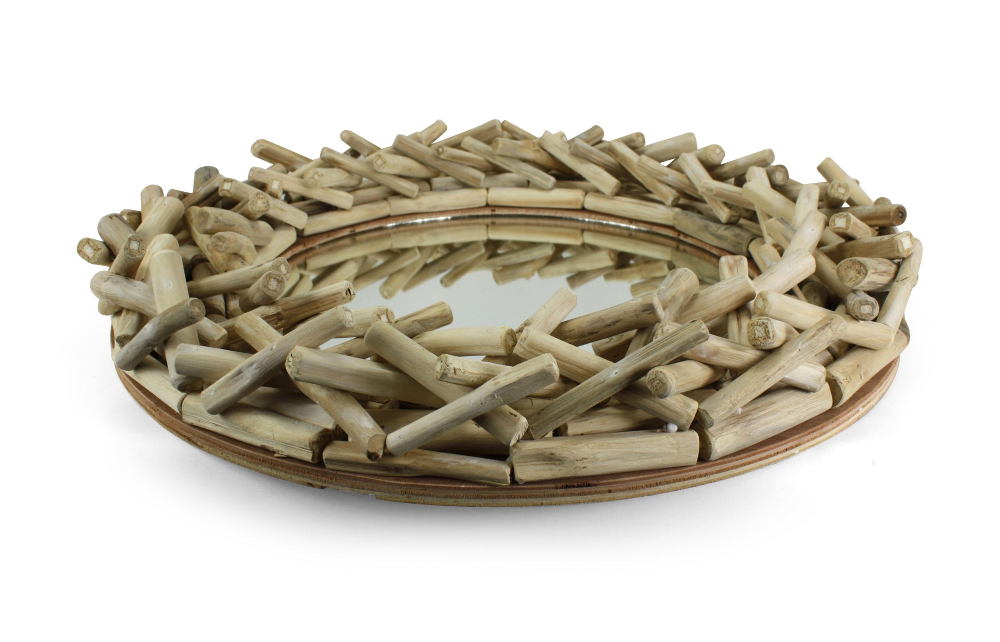 Thai driftwood mirror, 60cm, Model 20C - farangshop-co