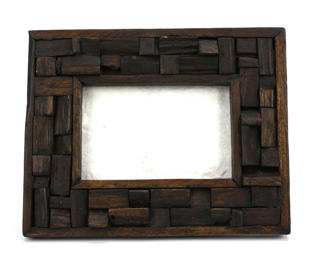 Thai Teak Photo Frame, 6 x 4, No. 2 - farangshop-co