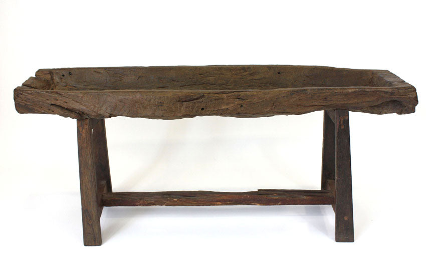 Reclaimed teakwood trough display - farangshop-co