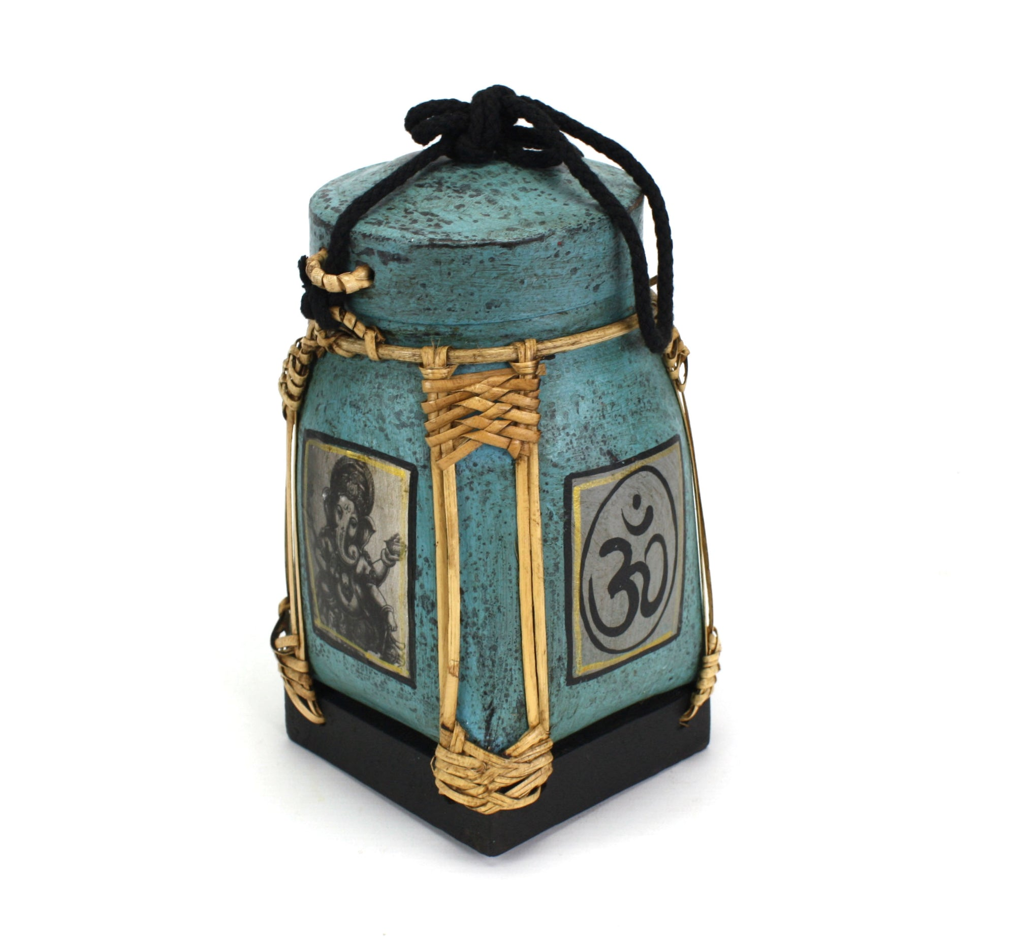 Rice seed box - Medium, 20cm high, Ganesh, Blue - farangshop-co