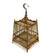 Thai Bamboo Bird Cage, 24cm x 32cm, or Light fitting, lampshade - farangshop-co