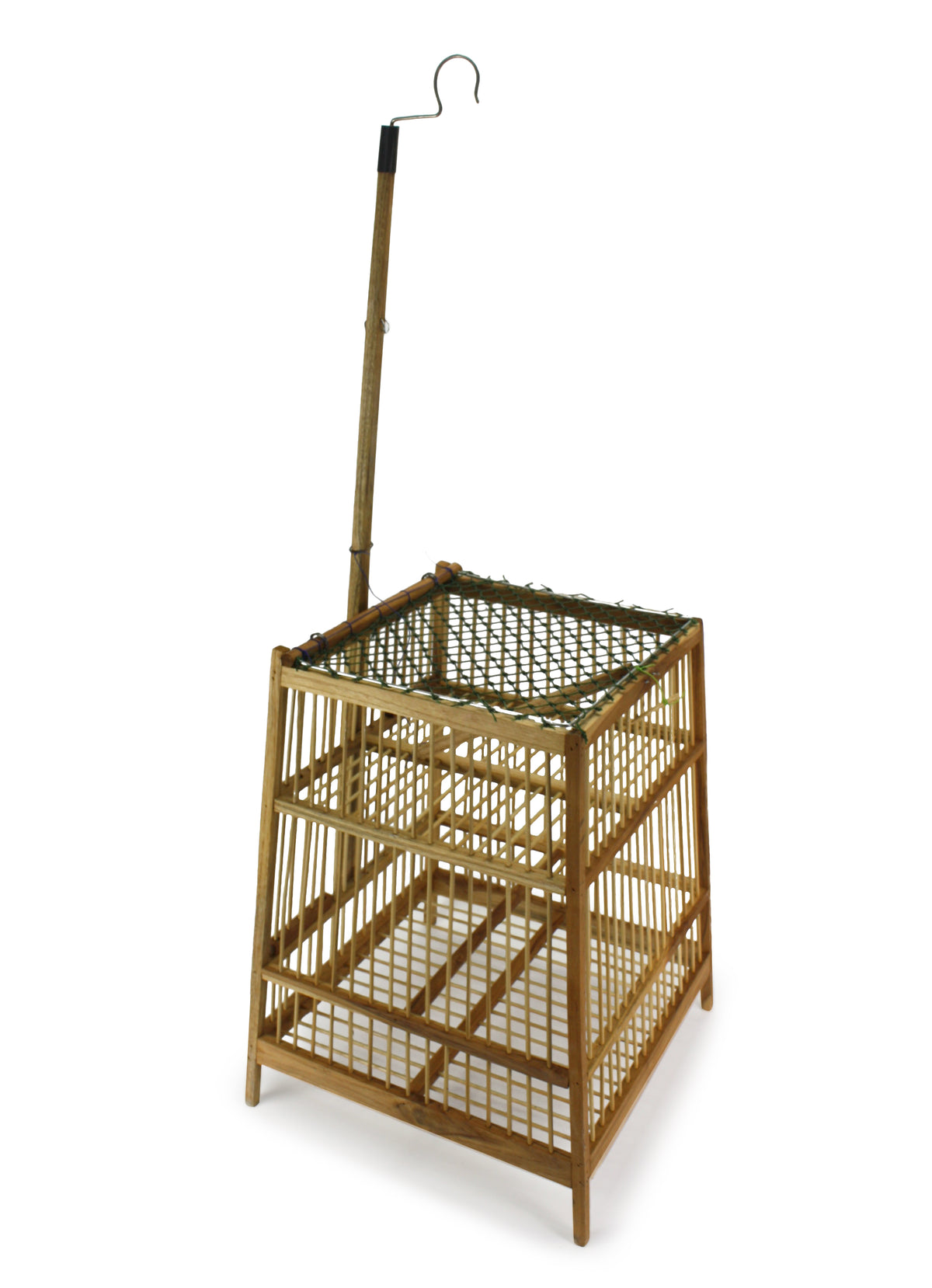 Thai Bamboo Bird Cage, 33cm x 88cm, or Light fitting, lampshade - farangshop-co