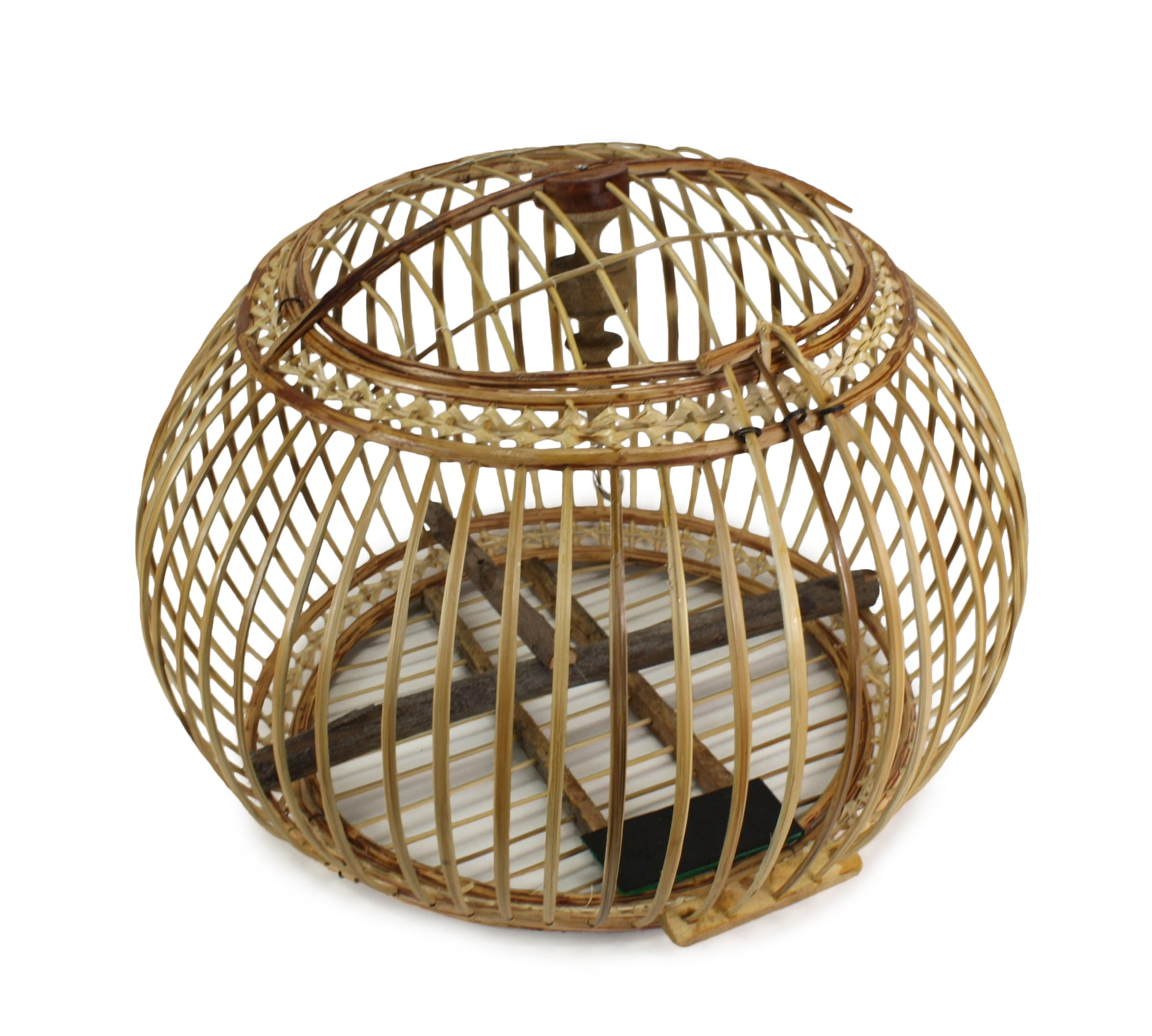 Thai Bamboo Bird Cage, 53cm x 54cm, or Light fitting - farangshop-co