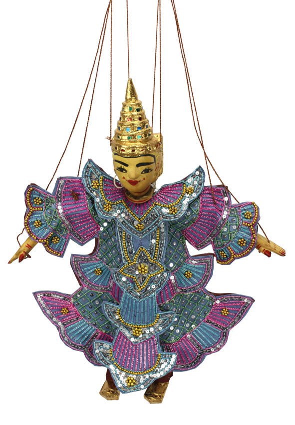 Traditional Burmese Puppet Marionette, Minthar, the Prince. - farangshop-co