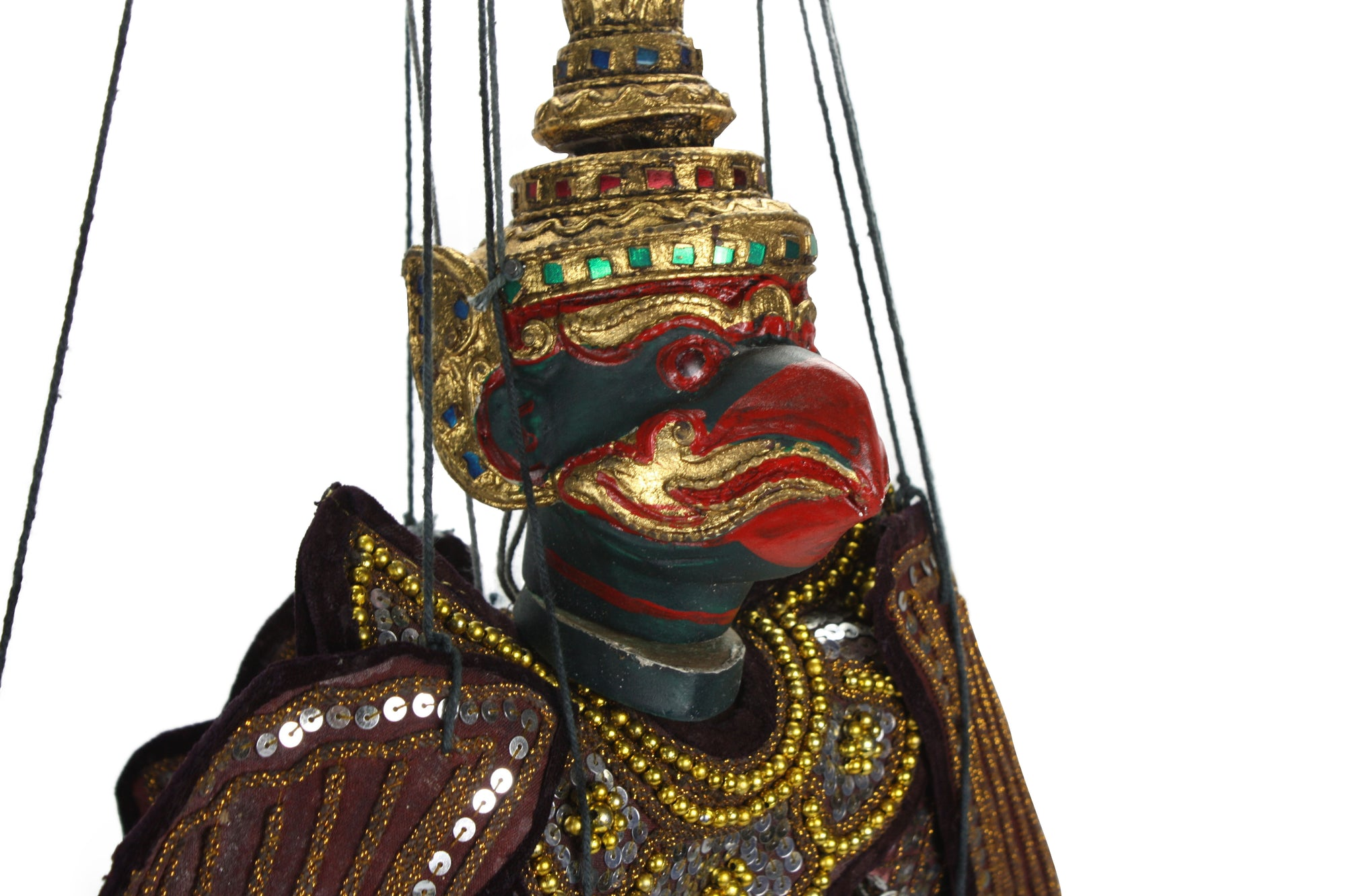 Traditional Burmese Puppet Marionette, Large Size - Garuda - farangshop-co