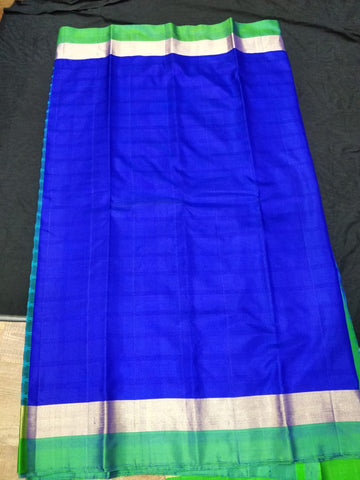 Royal Blue Plain Soft Silk Saree (SS19)