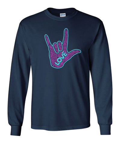 Adult T-Shirt -  Navy Long Sleeve T-Shirt