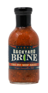 Backyard Brine - Fire Pit Mop Sauce Vinegar Sauce with a Kick, 13.5 oz Jar, 6-Pack