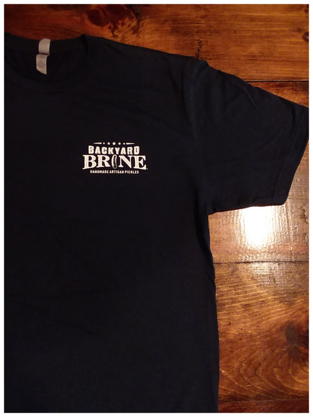 Backyard Brine Dill Death Do Us Part Navy Short Sleeve T-Shirt - 100% Cotton - Backyard Brine Pickle Co.