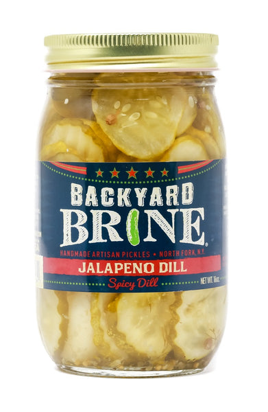 Backyard Brine Jalapeno Dill Spicy Dill Pickle Crinkle Cut Chips, 16 oz Jar, 6-Pack