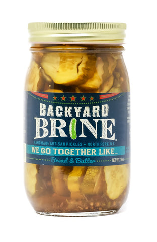 Backyard Brine - We Go Together Like....Bread And Butter Pickle Crinkle Cut Chips, 16 oz Jar, 6-Pack