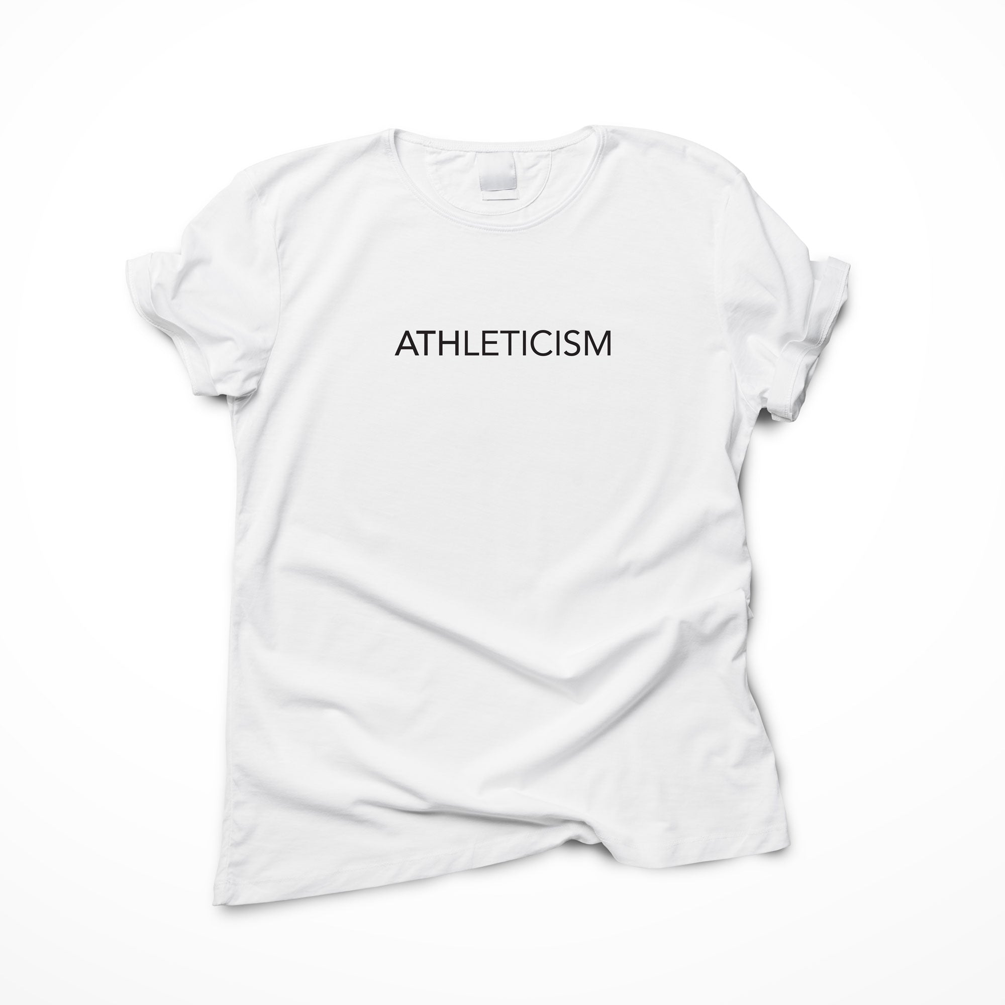 American Apparel cotton t-shirts are a staple item. Our ATHLETICISM logo on it makes it the coolest, most comfortable t-shirt. Logo up and show everyone you are ATHLETICISM Made.