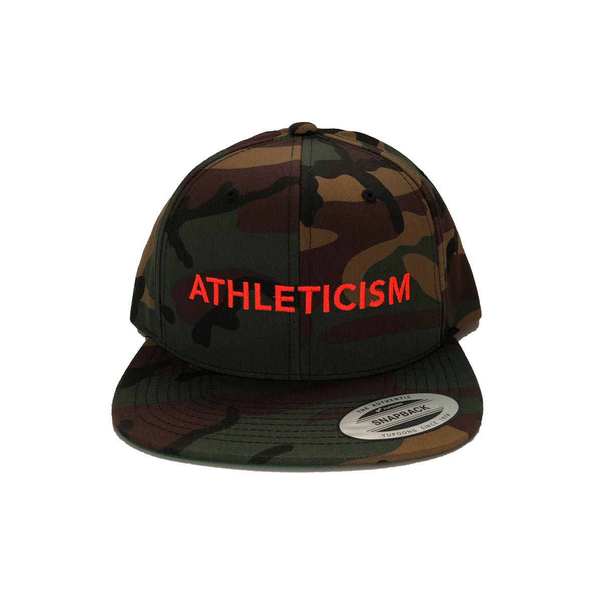 This is a vintage, soft mesh offers comfort, looks, and performance all in one. It is lightweight, breathable with a mid-structure profile. Basically, it is the most comfortable cap! The plastic snap closure is adjustable for most sizes. Logo up and show everyone that you are ATHLETICISM Made.