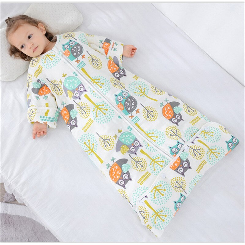 0-12 Years Cotton Babi Infant Sleepsack Detachable Sleeve Boys Sleep Sack Girls Baby Kids Children's Envelope Baby Sleeping Bags