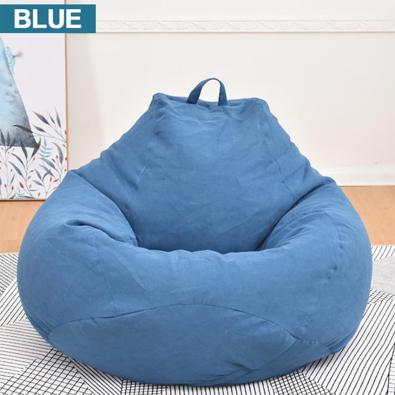 Large Small Lazy BeanBag Sofas Cover Chairs without Filler Linen Cloth Lounger Seat Bean Bag Pouf Puff Couch Tatami Living Room