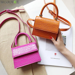 Alligator Pattern Bags PU Leather Flap Shoulder Messenger Top-handle Crossbody Purse Leather for Women Handbags Messenger Bags