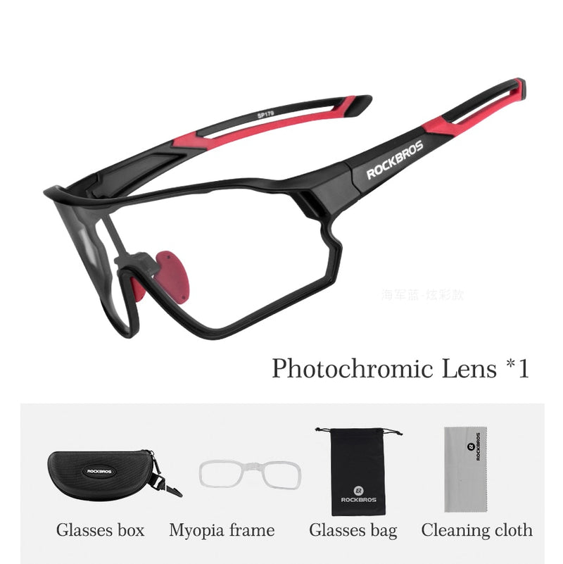 ROCKBROS Photochromic Cycling Glasses Bicycle Outdoor Sports Sunglasses Discoloration Glasses MTB Road Bike Goggles Bike Eyewear