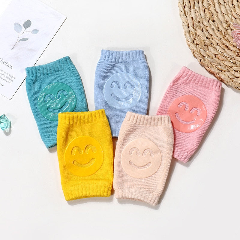 Kids Non Slip Crawling Elbow Infants Toddlers Baby Accessories Smile Knee Pads Protector Safety Kneepad Leg Warmer Girls Boys