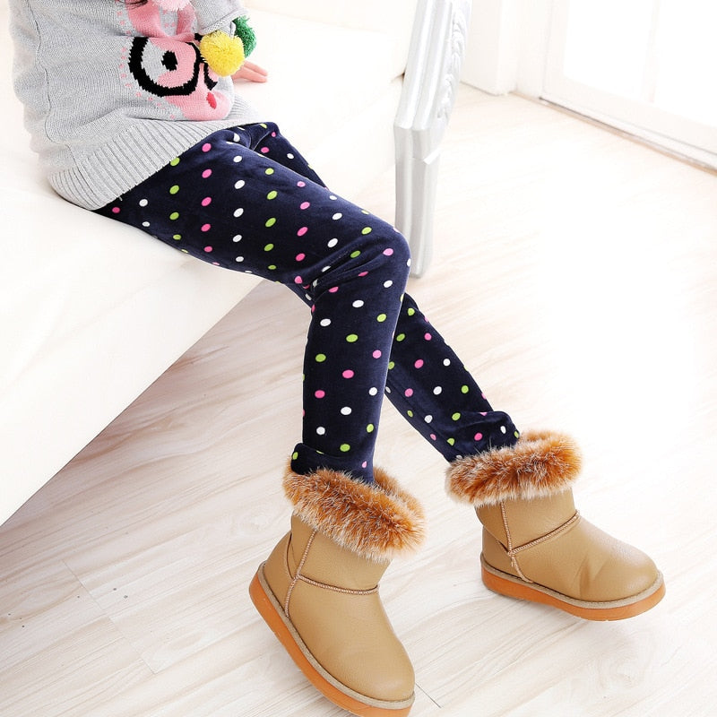 Children Pants Autumn Winter Baby Leggings Colorful Print Flower Butterfly Love Girls Pants