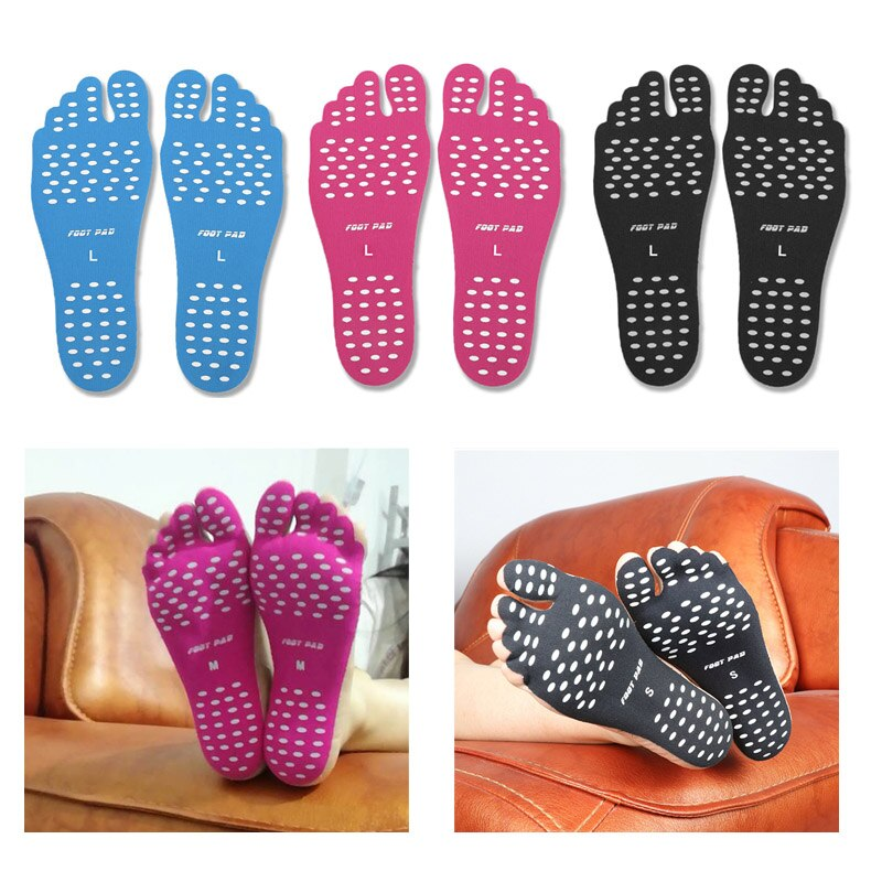 Non-slip Seaside Beach Shoes equipped with anti-skid shoes Beach socks Pad Feet Sticker Insoles Flexible Beach Feet
