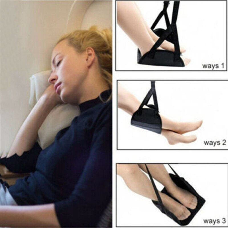 Comfy Hanger Travel Airplane Footrest Hammock Made with Premium Memory Foam Foot Resting hammock for travel office 25