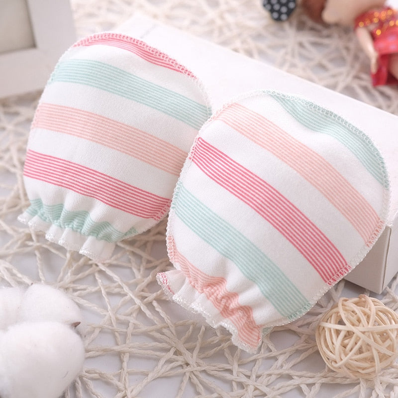 100% Cotton Baby Anti Scratching Gloves Newborn Gloves Protection Face baby Mittens Glove Infant Accessories