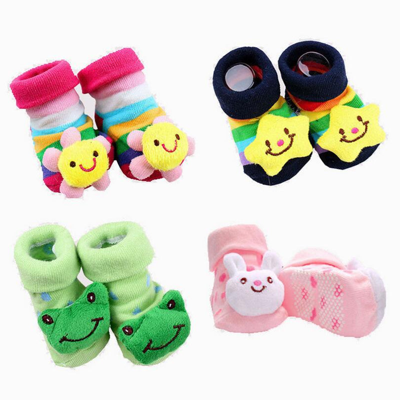 1 Pair cotton Baby socks rubber anti slip Boy Girl floor kids Toddlers autumn spring Animal Infant newborn Cute gift cheap stuff