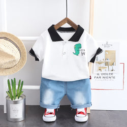 2020 Summer Baby Boys Clothing Sets Toddler Infant Short Sleeve Stripe T Shirt Shorts Children Casual Clothes