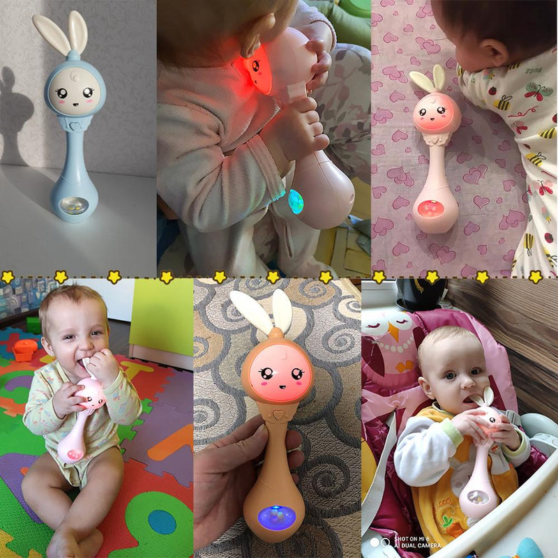 Baby Music Teether Rattle Toy for Child 0-12 Education Mobile Cot Kids Bed Bell Newborn Stroller Crib Infant Pacifier Weep Tear