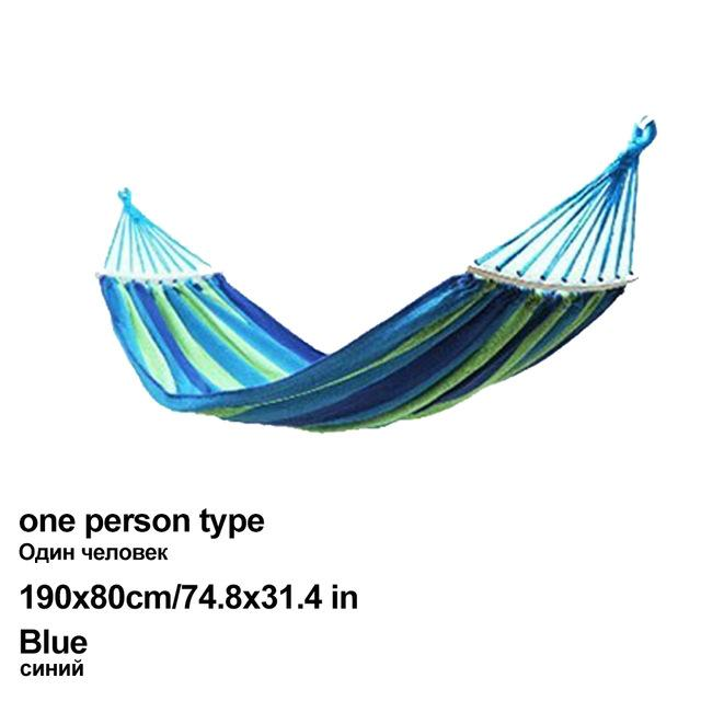 Portable Canvas Hammock Travelling Outdoor Picnic Wooden Swing Chair Camping Hanging Bed Garden Furniture with Backpack