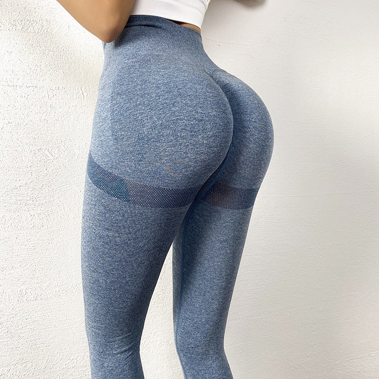 High Waist Compression Tights Sports Pants Push Up Running Women Gym Fitness Leggings Seamless Tummy Control Yoga Pants Stretchy